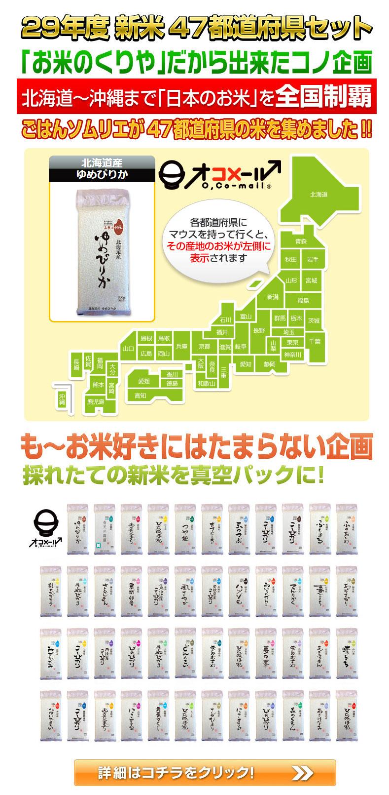 日本全国の新米 47都道府県米 セット